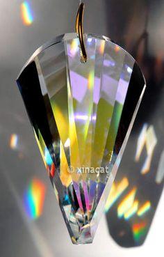 Swarovski Oloid 8950-2031-50mm 2 inch AB Austrian Crystal Prism #Swarovski #8950203150AB