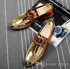 2018 Fashion Studded Men&039;s Casual Loafers Genuine Leather Dress Shoes Italy Style Man Party Wedding Shoes 4