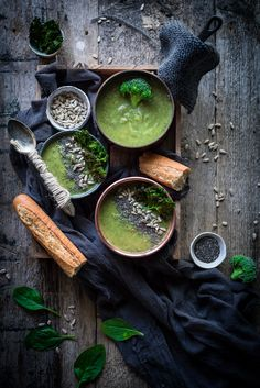 ... broccoli and spinach soup ...