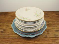 Dessert / Salad /  Saucer Vintage Wedding Plates by DesertBlossomVintage.com