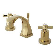Kingston Brass Millennium Double Handle Widespread Bathroom Faucet