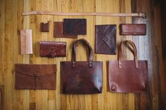 Leather bags, leather belt, leather clutch, MacBook air sleeve, Port Leather