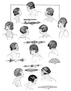 flapper evening headpiece and hair decorations were very popular and where the crowning jewel for any well dressed lady! Flapper Hair, 1920s Flapper, Flappers 1920s, Gatsby Hair, Hair And Makeup Tips, Hair Makeup, Prom Makeup, Vintage Beauty, Vintage Fashion