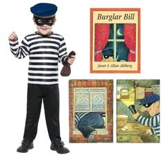 Saviours of World Book Day! Boys-Burglar-Bill-Costume-World-Book-Day-Fancy-Dress Storybook Character Costumes, Storybook Characters, World Book Day Costumes, Book Week Costume, Fancy Dress For Kids, Kids Dress Up, Boy Costumes, Super Hero Costumes, Costume Ideas