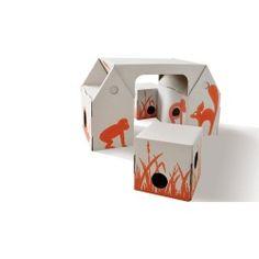 Juguete ecológico de cartón reciclado. Pupitre cartón infantil. Venta online: 39.91 €