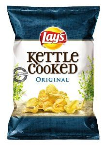 Lay's Kettle Cooked Potato Chips, Original, 8.5 Ounce (Pack of 4) - http://www.handygrocery.com/grocery-gourmet-food/lay39s-kettle-cooked-potato-chips-original-85-ounce-pack-of-4-com/