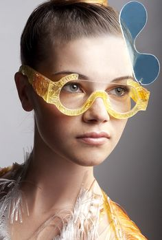 glasses made for london fashion week s/s '12 | studio swine | 'Icarus' was the central theme of Jane Bowler's womenswear collection
