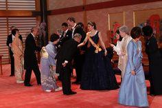 Emperor Akihito & Empress Michiko host a gala dinner for King   Felipe and Queen Letizia of Spain . April 5, 2017