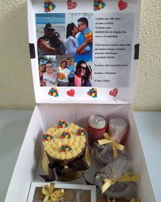 Box party: tutorials and 80 ideas for you to make your own - Birthday FM : Home of Birtday Inspirations, Wishes, DIY, Music & Ideas Birthday Candy, Birthday Box, Birthday Gifts, Baby Boys, Cake Frame, Personalised Cupcakes, Cute Minions, Diy Gift Baskets, Aesthetic Iphone Wallpaper