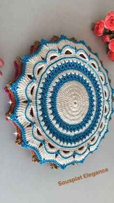 Crochet Circle Pattern, Crochet Circles, Crochet Doily Patterns, Crochet Mandala, Filet Crochet, Crochet Motif, Crochet Doilies, Crochet Blouse, Knit Crochet