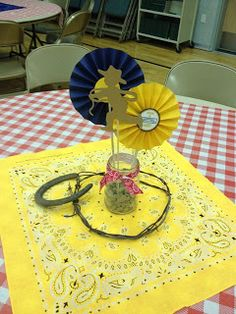 WESTERN THEME:  Larcie Bird: Western Blue & Gold Cub Scout Banquet