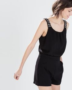 499c8150d32 Zara Black Jewelled Strap Jumpsuit - Beautiful Wardrobe Zara Jumpsuit
