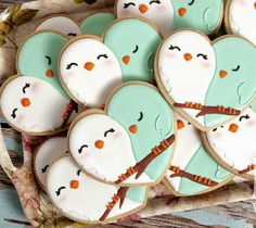 Love is in the air, along with these adorable love bird cookies! Celebrate with these Creatively Adorable Handmade Sugar Cookies. (3 dozen