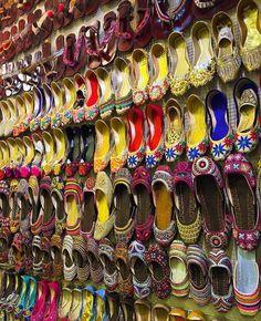 Colorful Khussas Anarkali Bazaar Lahore Punjab Pakistan Pakistan Zindabad, Stunning View, Beautiful, Anarkali, Culture, Asia, Aesthetics, Colorful, Memories