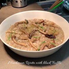 TUYA #MainCourse Risotto aux Champignons à la Truffle Mushroom Risotto with black Truffle #tuya #tuyavienna #tuyarestaurant #tuyawien #dishes #risotto #champignons #mushroom #finedining #frenchcuisine #cotedazzur #blacktruffle #truffle #vienna #wien #finediningdishes Mushroom Risotto, Black Truffle, Truffles, Thai Red Curry, Stuffed Mushrooms, Good Food, Eat, Ethnic Recipes, Stuff Mushrooms