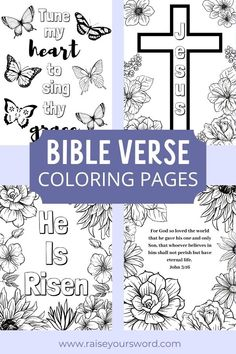 Bible Verse Coloring Pages Free Printables. 6 bible verses to choose from. Happy Coloring! #bibleverse #coloringpages #freeprintable
