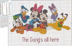 Cross Stitch patterns of Walt Disney, Mickey Mouse | Cross-stitch