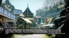 TES V: Skyrim Confessions - I only think about how the seriously unwashed masses must reek.