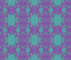 Purple Art Nouveau wallpaper fabric by eclectic_house on Spoonflower - custom fabric