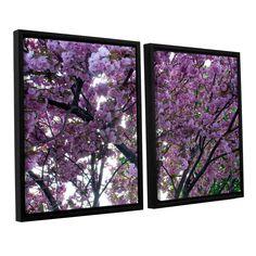 Spring Flowers by Dan Wilson 2 Piece Floater Framed Canvas Set