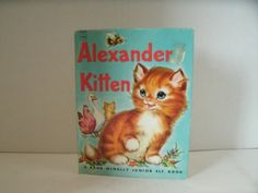 Alexander Kitten // Rand McNally Junior Elf Book // Vintage 1950s Children's Book // Etsy // LoveVintageAlways