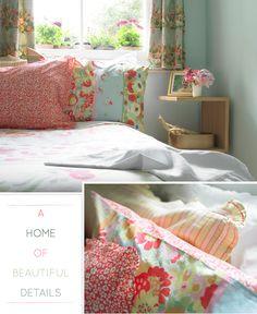 ❁ Home & Garden ❁: Tissus et couleurs pour une maison Londonienne