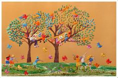 brincadeiras em árvore