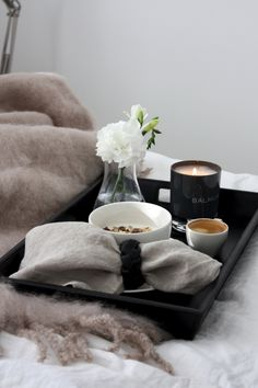 homevialaura | breakfast in bed | Balmuir | Kid Mohair throw | Como scented candle | Kensington Tray | Hamilton napkin ring | linen napkins |  www.balmuir.com/shop