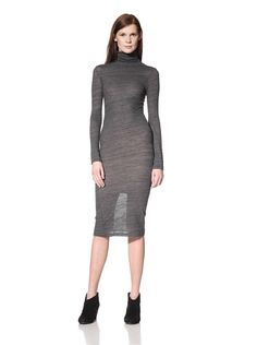 52% OFF Surface to Air Women\'s Turtleneck Dress (Grey)