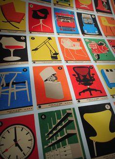 Poster met designklassiekers
