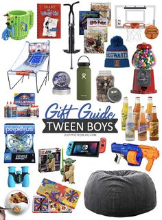 Gift ideas for teen boys, teen girls, tween boys and tween girls! This age can be hard to shop for and hopefully these guides will help you find the perfect gift for teens and tweens on your list! Some would make good stocking stuffers for teens too! Tween Boy Gifts, Gifts For Teen Boys, Presents For Boys, Brothers Presents, Teen Boy Christmas Gifts, Kids Christmas, Christmas Skirt, Stocking Stuffers For Boys, Christmas Stocking Stuffers