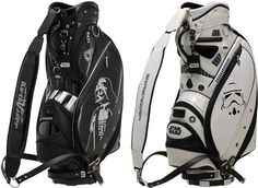 Remember those fun and cool Star Wars Golf Club Covers from last year? Now you can extend your gear with some new Star Wars-themed golf accessories.     Sculpted art or sporting good? We'll let you decide which best describes Bridgestone Sports' new pair of Star Wars golf bags, ea