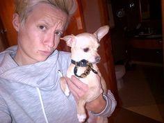 U.S. soccer player Megan Rapinoe and her teammate Sydney Leroux's Chihuahua, Boss
