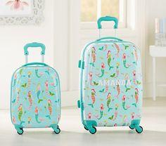 Mackenzie Aqua Mermaids Hard Sided Luggage