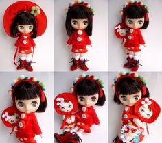 Blythe dressed in Bunka Doll