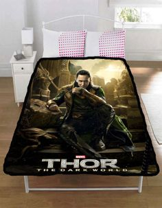Thor 2 The Dark World Loki Tom Hiddleston Throw by CrunchyCase, $31.69