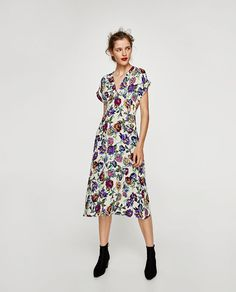 0358feeb Image 1 of FLORAL PRINT MIDI DRESS from Zara Midi Dress Sale, Midi Dresses,