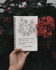 nothing teaches better than* this trio the fears, the tears, the years // poetry by noor unnahar✨✨ // art journal words quotes instagram creativity writers Tumblr grunge hipsters photography ideas inspiration, journaling notebook simple illustration drawing floral poem crafts diy teen artists //
