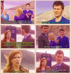 The Doctor, in the TARDIS, with Rose Tyler, just as it should be. Can't believe this scene was deleted!