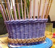 """Здравствуйте коллеги! Сегодня у меня две велокорзинки под одним названием """"корзинка ягодной феи"""", в двух вариантах, т.к. есть явные любители фиолетового цвета, и есть те кто это скрывает. ))) Я отношусь ко вторым ) фото 15"""