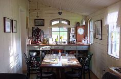 """white wood kitchen interior from the Flickr pictures of """"Avalanche Looms"""""""