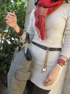 November 14, 2012  http://www.akeytothearmoire.com/post/35701952691/passport-to-fall  #sweater dress #cream #red #ombre #scarf #ombre scarf #brown #leggings #Rugby #Ralph Lauren Rugby #Prada #Prada sunglasses #Ralph Lauren Collection #Ferrari #Longines #Juicy Couture #Coral Gables #Miracle Mile #cora #capri leggings #plaid