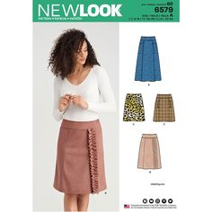 Buy New Look Women's Skirt Sewing Pattern 6579 from the Sewing Patterns range at Hobbycraft. Dress Making Patterns, Skirt Patterns Sewing, Simplicity Sewing Patterns, Skirt Sewing, Mccalls Patterns, Patron Simplicity, Patron Butterick, New Look Women, New Look Patterns