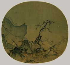 Ma Yuan, Viewing Plum Blossoms by Moonlight, Southern Song dynasty (1127–1279)