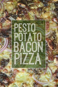 Pesto Potato Bacon Pizza // shutterbean