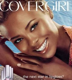 My favorite Cover Girl ad EVER. Eva Pigford (ha @ her last name!) is a stunner
