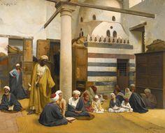 Ludwig Deutsch - In der Madrasa 1890