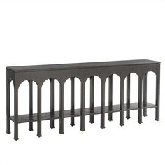 Crestaire-Brooks Console Table in Flint - 436-85-05