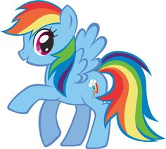 Rainbow Dash is a female Pegasus pony and a main character in My Little Pony: Friendship is...