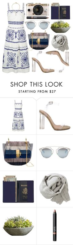 """Summer dress"" by shanelala ❤ liked on Polyvore featuring Monsoon, YEEZY Season 2, Chloé, Christian Dior, Royce Leather, Brunello Cucinelli, Urban Outfitters, Campania International, NARS Cosmetics and Lulu Frost"